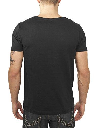 Urban Classics Herren T-Shirt Contrast Pocket Tee Mehrfarbig (blk/aztec 674)