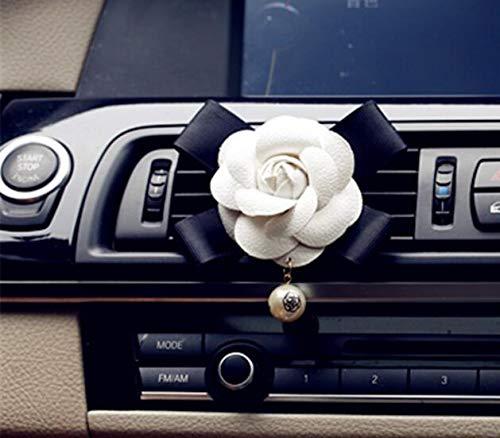 CHENFUI Camellia Pearl Outlet Parfüm Clip Lufterfrischer Diffusor Auto Verwendung (weiß)