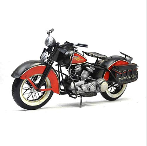 ZXWDIAN Automodell Spielzeugauto Retro kreative einrichtungen motorrad modell requisiten studie fenster bar fotografie metall stil dekorative handwerk Autos Fahrzeuge Spielzeug (Color : Black) (Vintage Motorrad-reifen 18)
