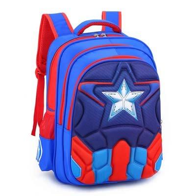 Magic Union Boys Spine Protection Backpack Alleviate Burdens Children Shoulder Backpack Elementary School 1-6 Grade School Bags – Sky Blue