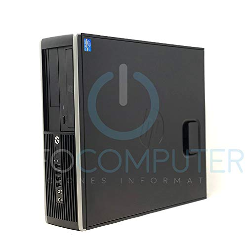 HP Elite 8300 - Ordenador de sobremesa (Intel Core i7-3770, 8GB de RAM, Disco SSD 240GB, Lector DVD, Windows 10 Pro ES 64) - Negro (Reacondicionado)