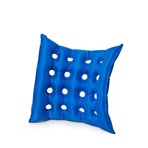 WAOBE Rollstuhl Aufblasbare Kissen Haushalt Mit Platz Loch Medizinische Kissen Aufblasbare Sitz Matratze Anti Dekubitus Rollstuhl Sitzkissen Blau