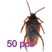 Outflower 50Pcs Faux Cafards Créatif Rusé Props Insectes Vivants Effrayant Drôle
