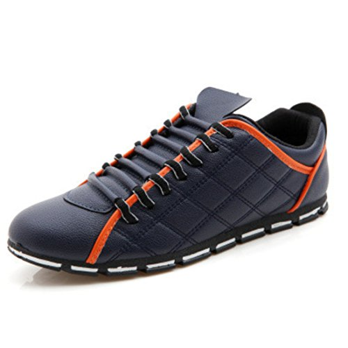 Men's High Quality Fashion Style Leather Casual Shoes blue