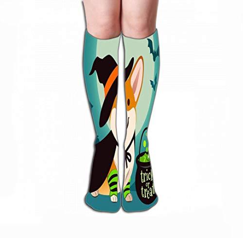 HUKEDCQ Women Knee High Socks Novelty Compression Socks 19.7