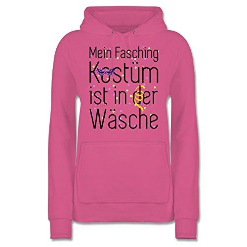 Shirtracer Karneval & Fasching - Mein Fasching Kostüm ist in der Wäsche - M - Rosa - JH001F - Damen Hoodie