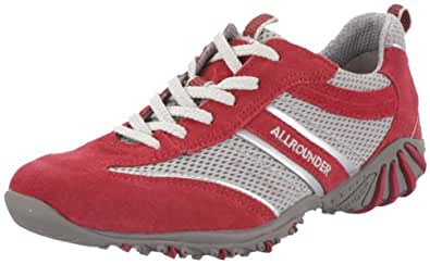 Allrounder by Mephisto ORIA C.SUEDE 48 D.MESH 12 P2002328, Damen Sportschuhe - Walking, Rot (RED/COOL GREY C.SUEDE 48 / D.MESH 12), EU 36.5 (UK 3.5 / US 6)