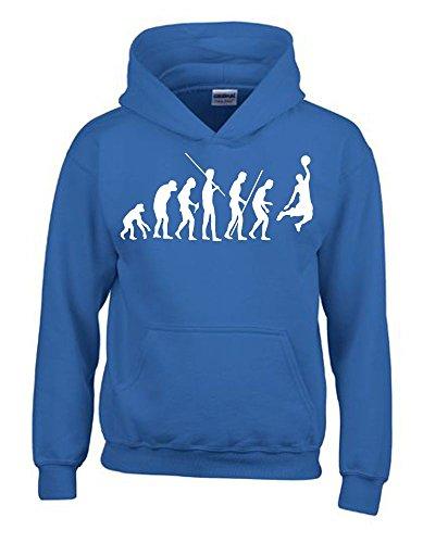 BASKETBALL Evolution Kinder Sweatshirt mit Kapuze HOODIE blau-weiss, Gr.152cm