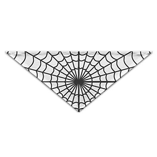 Halloween Spinnennetz Hund Bandanas Schals Dreieck Lätzchen Schals Retro Basic Halstuch