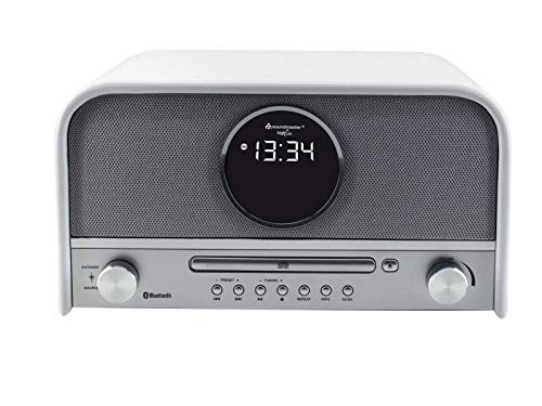 Soundmaster NR850WE Nostalgieanlage DAB+ UKW USB Radio mit CD-MP3 und Bluetooth