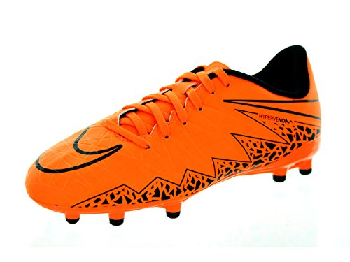 Nike Youth Hypervenom Phelon II Firm Ground [TOTAL ORANGE/BLACK/TOTAL ORANGE] (3.5Y) Orange/Black