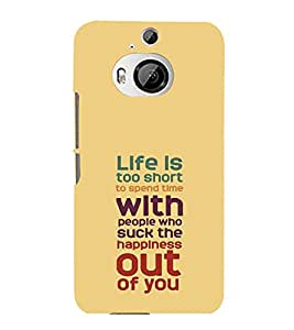 printtech Cool Quotes Success Back Case Cover for HTC One M9+::HTC One M9 Plus