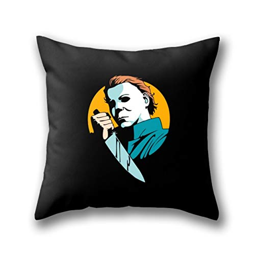 GYTOP Kissenbezug Halloween - Michael Myers Standard Dekokissen Kissenbezüge Kissenhülle 45X45 cm