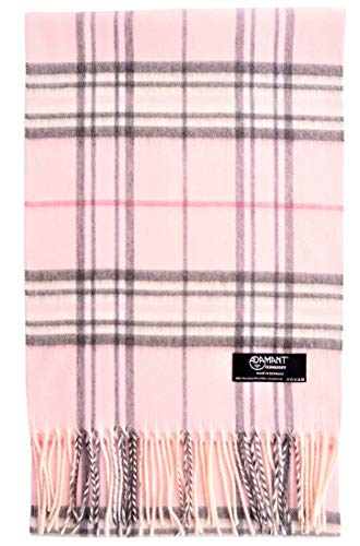 ADAMANT Damen Schal | Made in Germany | Rosa Karo Muster