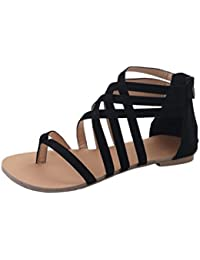Damen Sommer Sandalen die Neue Wohnung Binden Große Open Toe Quaste Strand Urlaub, Grün, 35
