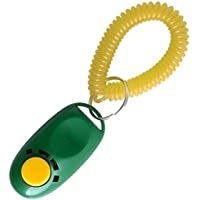BEETEST Gato del animal doméstico botón Clicker perro formación entrenador equipo accesorios (Cantidad de Color al azar 1)