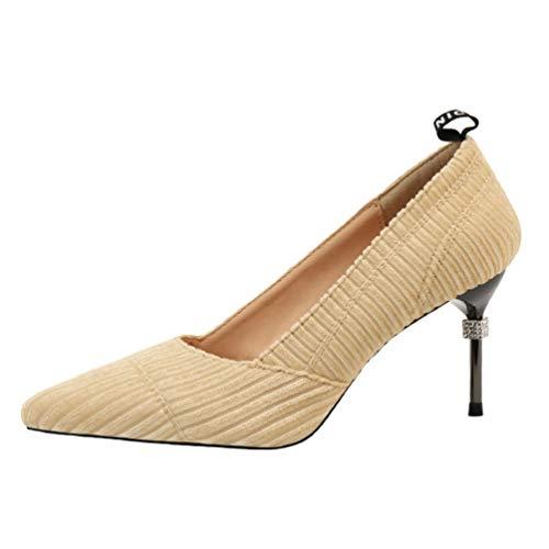 Mujeres Sandalias Tacones Altos Zapatos Manos brillantes Noche Bombas Moda Novia Sandalias 38