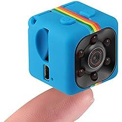 Hanbaili (bleu) 1080P enregistreur de caméra de voiture de HD DVR, enregistreur vidéo minuscule Portable avec vision nocturne et caméra de sécurité de détection de mouvement pour les drones, FPV, mais