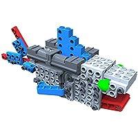 Fumetti mobile costruzione giocattolo, SainSmart Jr. Blocchi team-08 BT Blocchi educativi creativi nuovi, con AR Vista, fantasia scatola di plastica gratuita, silvicolo Skills stelo (Shark)