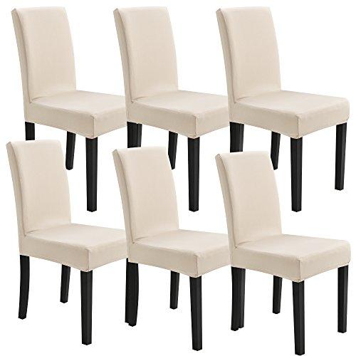 [neu.haus] Fodera per sedie in un set di 6 articoliColor sabbiaElastico per sedie in varie misure