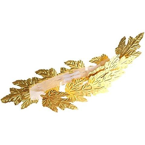 Corona de Laurel Vestido de Lujo Traje Venda de Pelo Hoja Romana Diosa Griega