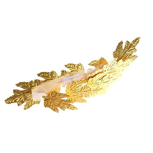 Homyl Lorbeerkranz, gold, Römer, Karneval, Mottoparty, Accessoire, König Kostüm (Griechische Göttin Kostüm Kopfschmuck)