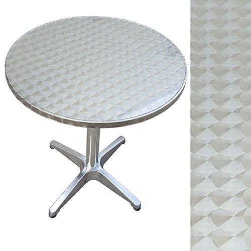 Bistrotisch rund aus Metall 60 cm Beistelltisch Gartentisch Aluminium