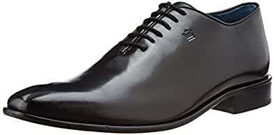 Louis Philippe Men's Oxford Black Leather Formal Shoes - 7 UK/India (41 EU)
