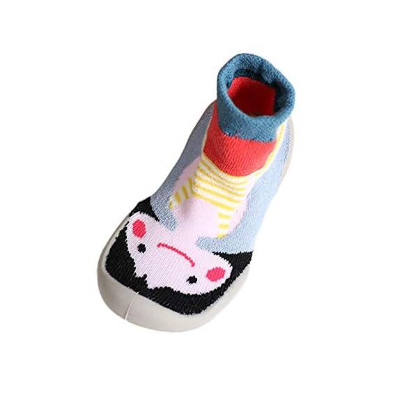 MAYOGO Niños Invierno Calentar Suela de Goma Tejer Calcetines de Piso para Recién Nacido Bebé Antideslizantes Dibujo… 4