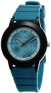 Sonata Fashion Fibre Analog Turquoise Dial Women's Watch -NJ8992PP01C