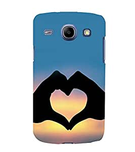 printtech Heart Peace Hardwell Sunset Back Case Cover for Samsung Galaxy Core i8262::Samsung Galaxy Core i8260