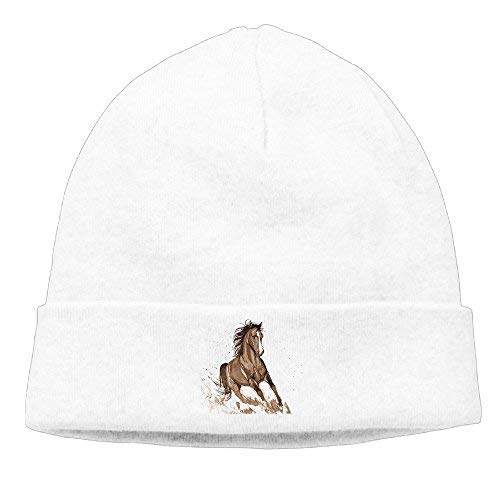 a41c4a558 DHNKW Handsome Horse Beanies Caps Skull Hats Unisex Soft Cotton Warm  Hedging cap,One Size