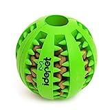 Idepet cane giocattolo palla, non tossico giocattolo morso resistente palla per cani da compagnia, cibo per cani trattare alimentatore dente pulizia palla