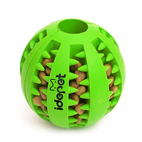 g Ball, ungiftig Bite resistent Spielzeug Ball für Hunde Welpen, Hundefutter Treat Feeder Zahn Reinigung Ball, Hunde Übung Spiel Ball IQ Training Ball ()