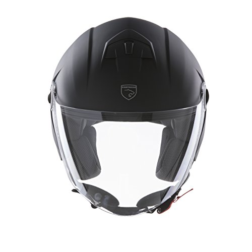 Panthera casco moto full jet Trendy negro mate talla