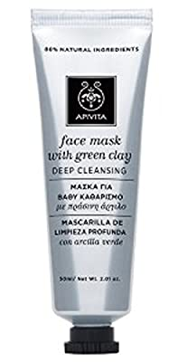 Apivita Deep Cleansing Face Mask with Green Clay 1.7 oz 50ml (New Product, Exclusive Innovation) from Apivita