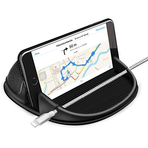 Cinati Porta Cellulare Auto, Supporto Smartphone per Auto cruscotto di Auto Silicone Antiscivolo, Supporto Auto per iPhone X XS Max XR 8 7 6 6S Plus Samsung Galaxy/Huawei/One Plus/Sony Xperia/GPS