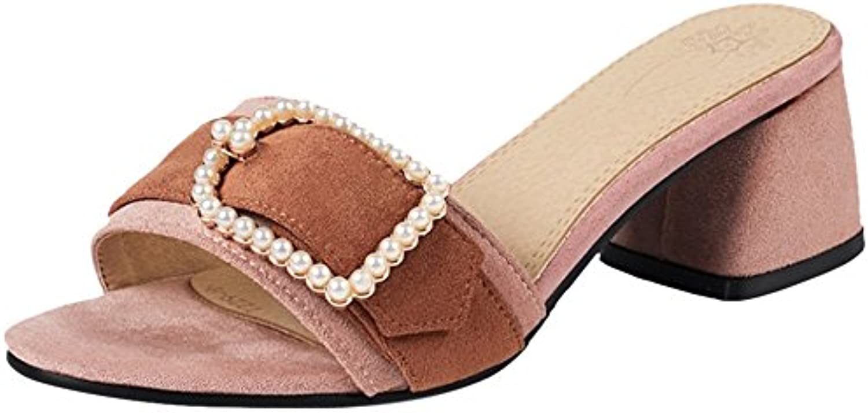 VulusValas Mujer Tacon Grueso Mulas  Zapatos de moda en línea Obtenga el mejor descuento de venta caliente-Descuento más grande