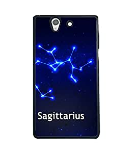 Printvisa 2D Printed Sunsign Sagittarius Designer back case cover for Sony Xperia Z - D4466
