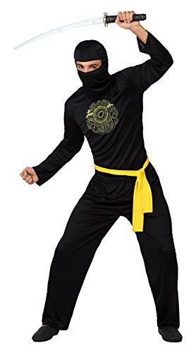 Atosa–4986–Disfraz de ninja–Adulto–Tamaño 2