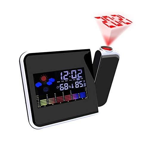 Xu Yuan Jia-Shop Creativo LED Reloj Despertador electrónico Previsión meteorológica Estación meteorológica...