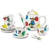 Pippi Langstrumpf Porzellan Kinderservice, spülmaschinenfest, 14 Teile - Kaffee Service Kinder Geschirr Spiel Geschirr Set