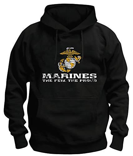 TSP US Marine Corps USMC Kapuzen-Sweatshirt Herren XXXL Schwarz -