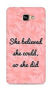 AMEZ she believed she could so she did Back Cover For Samsung Galaxy A9