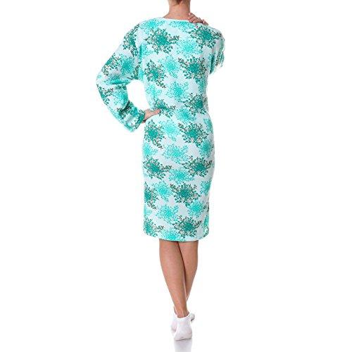 Damen Nachthemd Schlafshirt Nighty Sleepshirt Negligee 21692 Grün