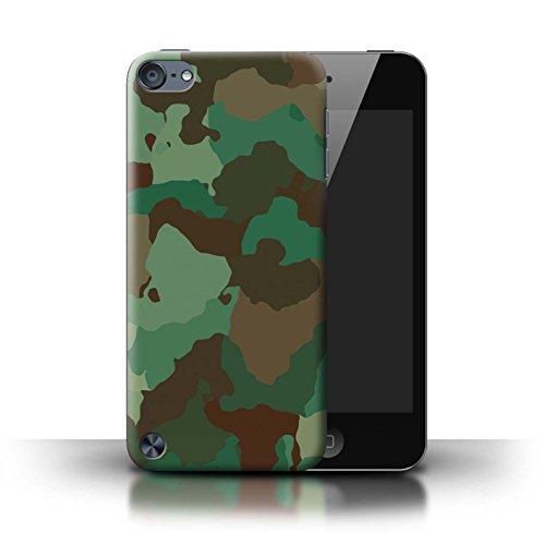 Stuff4 Hülle / Case für Apple iPod Touch 5 / Grüner Wald Angriff Muster / Militär Camouflage Tarnung - Case 4 Ipod Grün