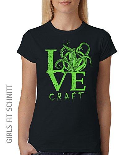 -- Lovecraft -- Girls T-Shirt auch im Unisex Schnitt Schwarz