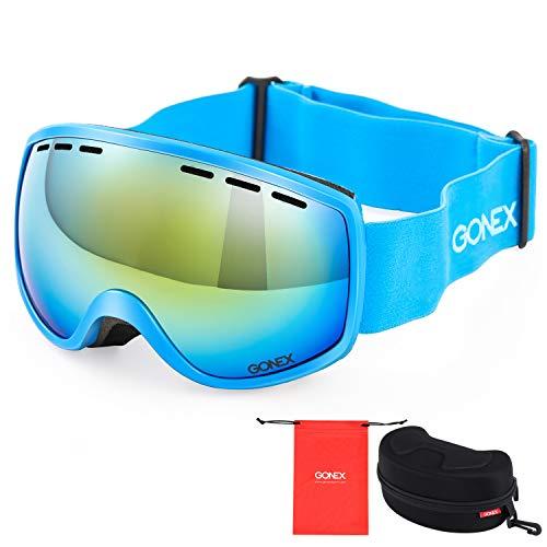 Gonex Kinder Skibrille, Snowboardbrille für Kinder Brillenträger von 3 bis 8 Jahren, Anti-Fog und 100{865708a03b97a005ad1bc3483c87ca2f45d1e24813256c733571c116f37026ce} UV Schutz