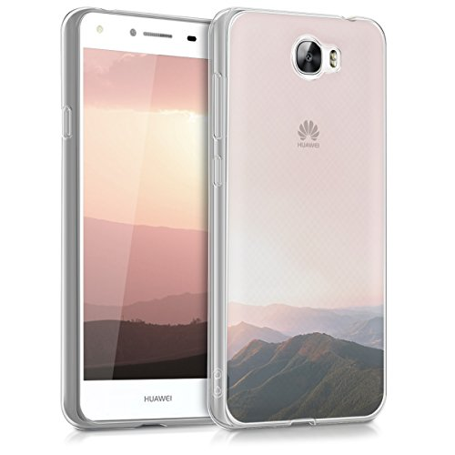 kwmobile Huawei Y6 II Compact (2016) Hülle - Handyhülle für Huawei Y6 II Compact (2016) - Handy Case in Altrosa Schwarz Transparent