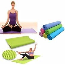 Esterilla Fitness de Ejercicio, Alfombra de Yoga, Colchoneta de Gimnasia, Fino y Suave, Plegable y Fácil de Transportar, Tamaño de 173cm x 61cm, 6 Colores (Rosa)